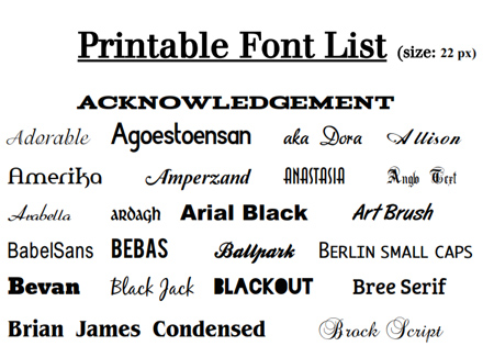 graphic regarding Fonts Printable identified as Printable Fonts Listing Literary Spring Programs