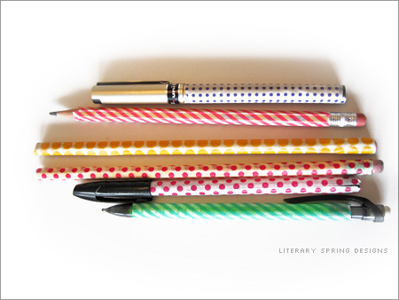 Washi Tape Pens and Pencils