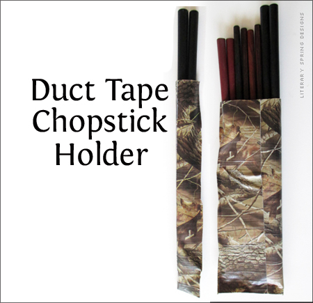 Duct Tape Chopsticks Holder Large