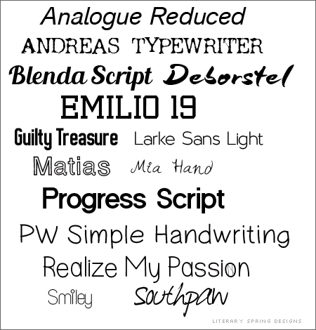 New Fonts through January