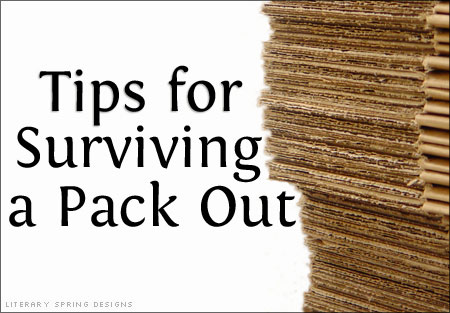 Tips for Surviving a Pack Out