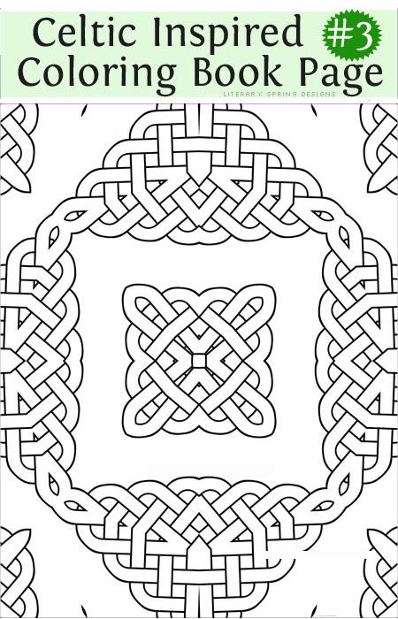 450 x 700 jpeg 102kB, Printable Fancy Celtic Inspired Coloring Book ...