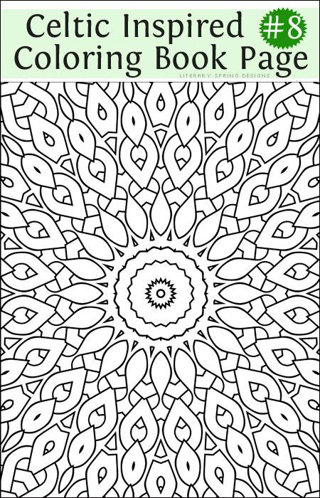 celtic coloring  part 8