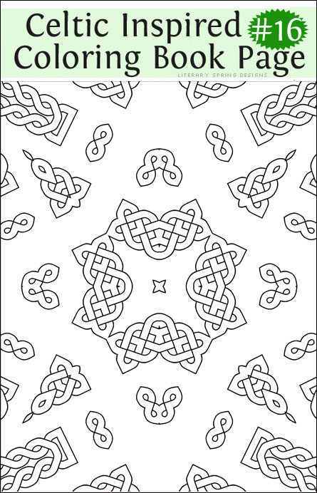 Coloring book literary spring designs part 2 for Sweet sixteen coloring pages