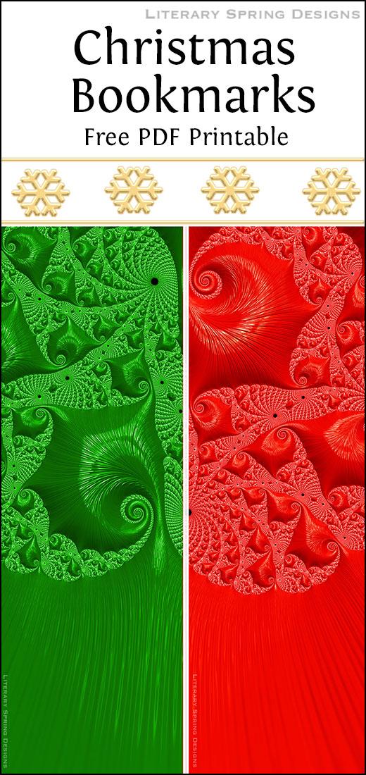 photograph regarding Printable Christmas Bookmarks identified as Xmas Bookmarks Printable Literary Spring Styles